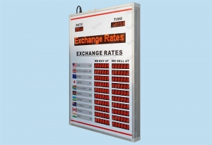 China LED Gas Price Sign British LED Exchange Rate Display on sale