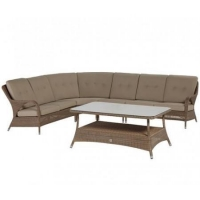 China Well Furnir - Outdoor Rattan Furniture Manufacture Supply Modular Corner Sofa Set on sale