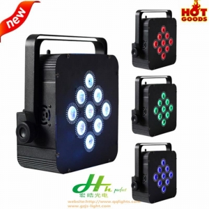 China 9pcs led Wireless Battery led par light on sale