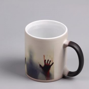 China Walking dead Mug Heated changing color ceramic coffee mug on sale