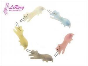 China Lovely cat shape acrylic hair clips on sale