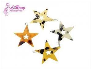 China star shape acrylic hair clips on sale