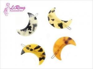 China moon shape Acrylic hair clips on sale