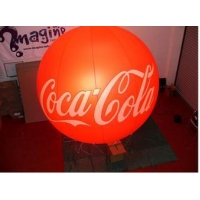 China Red inflatable led light balloon for events decoration oxford cloth logo printing advertising on sale