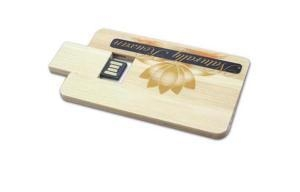 China credit card usb sticks Wooden Customized Logo USB Card on sale