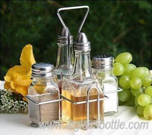 China Kitchen oil bottle and spice jar Rack set on sale