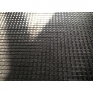 China Asphalt Reinforcement Fiberglass Geogrid Composite With Nonwoven Geotextile Impregnated By Bitumen on sale