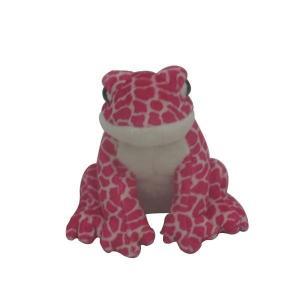 China 8''sitting pink frog Plush Toys on sale