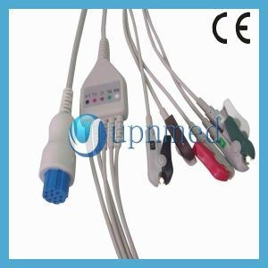 China S&W Artema One Piece ECG Cable 5 lead wires on sale