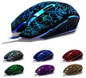 China New 2400dpi LED 6D Ergonomic Optical Wired Gaming Mouse on sale