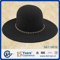 China SAT16010 New fashion women felt hat chain trim on sale