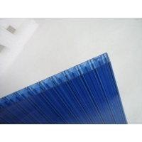 China Polycarbonate Hollow Sheet 10m Plastic Sheet Triple Wall Polycarbonate PC Hollow Sheet on sale