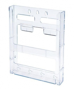 China Brochure Holder Lit Loc Interlocking Display System Magazine Holder on sale