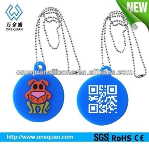 China Silicone Dog Tag on sale