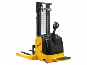 China Electric Straddle Stacker on sale