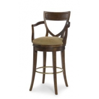 Outdoor 3744B - Shield Back Swivel Bar Stool