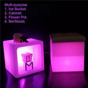 China Multi-purpose 30CM Cube LED Ice Bucket Flower Pot on sale