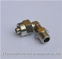 China Brass Push-On Tubing Fittings Swivel Elbow on sale