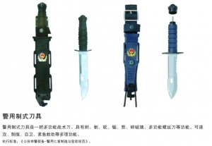China Police with a standard tool on sale
