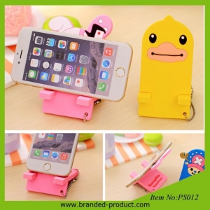China Cute cartoon pvc multiple mobile phone holder cheap giveaways on sale