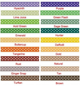 China 100 yards 3/8 inch dots grosgrain ribbon - 18 colors to pick on sale