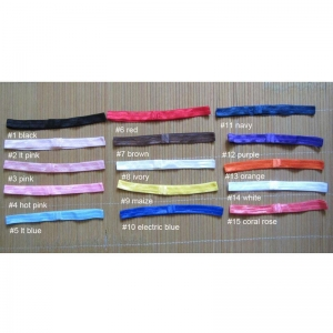 China 100 pieces 5/8 inch interchangeable elastic headband - 15 colors to choose on sale