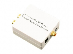China Analog L/R RCA 3.5mm Audio to Digital Optical Toslink SPDIF Coax Converter Adapter on sale
