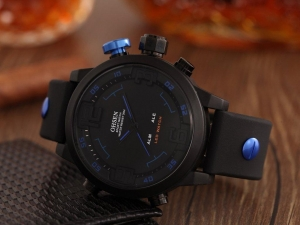 China Mens Watch Shop LED Men Silicone Watch AD2820R Blue Hot $1998 Save $1701 on sale