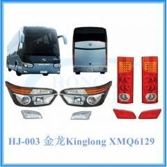 China XMQ6129 6137 Kinglong bus parts (headlight, tail light, front fog lamp, rear fog lamp) on sale