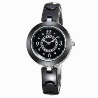 C007BAimes ceramic white diamond black watches