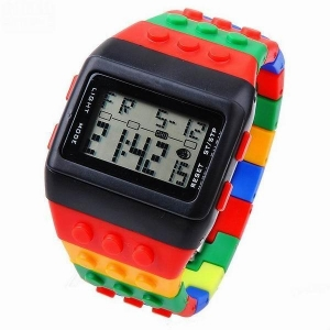 China D006Vintage Design Of The Lego Inspired Retro digital watch on sale