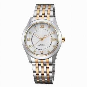 China AS810Luxury silver swirl marks dial automatic mechanical men watch on sale