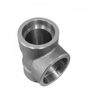 China ASME B16.11 Socket Weld Equal Tee 304/304L on sale