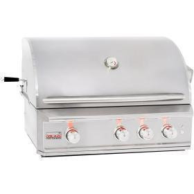 China Blaze Professional 34-Inch Built-In Natural Gas Grill With Rear Infrared Burner - BLZ-3PRO-NG on sale