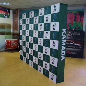 China Fabric banner Standard Size Design Pop Up Booth Stand Banners on sale