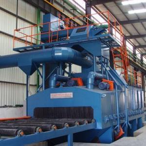 China Steel shot blasting machine on sale