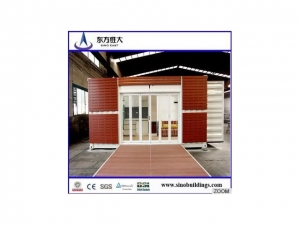 China Economic pre container house for coffe house,office 20 ft,40 ft on sale