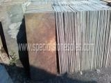 China 2014 Natural Split Rusty Slate Slabs For Steps Slate Stepping Stones on sale