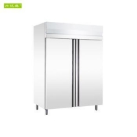China On Sale Stainless Steel Frost Free Double Door Upright Freezer on sale