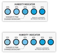 China Moisture absorber box Moisture indicator/humidity indicator card on sale