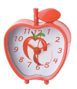 China Digital Compass mini apple metal twin-bell alarm clock ET3003A on sale