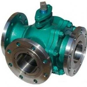 China Ball valve Flange type three ways ball valve on sale