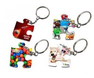 China Polymer Puzzle Keychain 41*33mm - White on sale