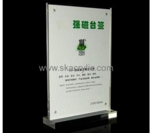 China Customized acrylic plastic sign holder acrylic poster holder table sign holders SH-031 on sale