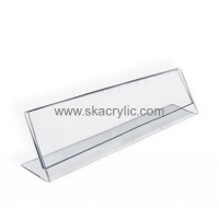 China Customized acrylic plastic table stands acrylic price tag holders acrylic display signs SH-085 on sale