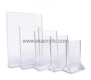China Customized acrylic table tent holder small acrylic sign holder acrylic table top displays SH-083 on sale
