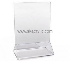 China Custom design acrylic plastic table sign holders sign holders stands acrylic display frames SH-088 on sale