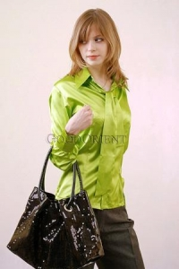 China Emerald Green Silk Blouse on sale