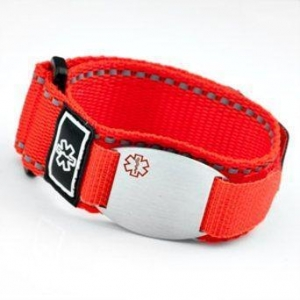 China Item#SA1223- Red Medical ID Sport Strap on sale