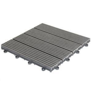 China WPC Interlocking Decking Tiles WPC Click Tile Outdoor Wood Decking Quality Manufacturers on sale